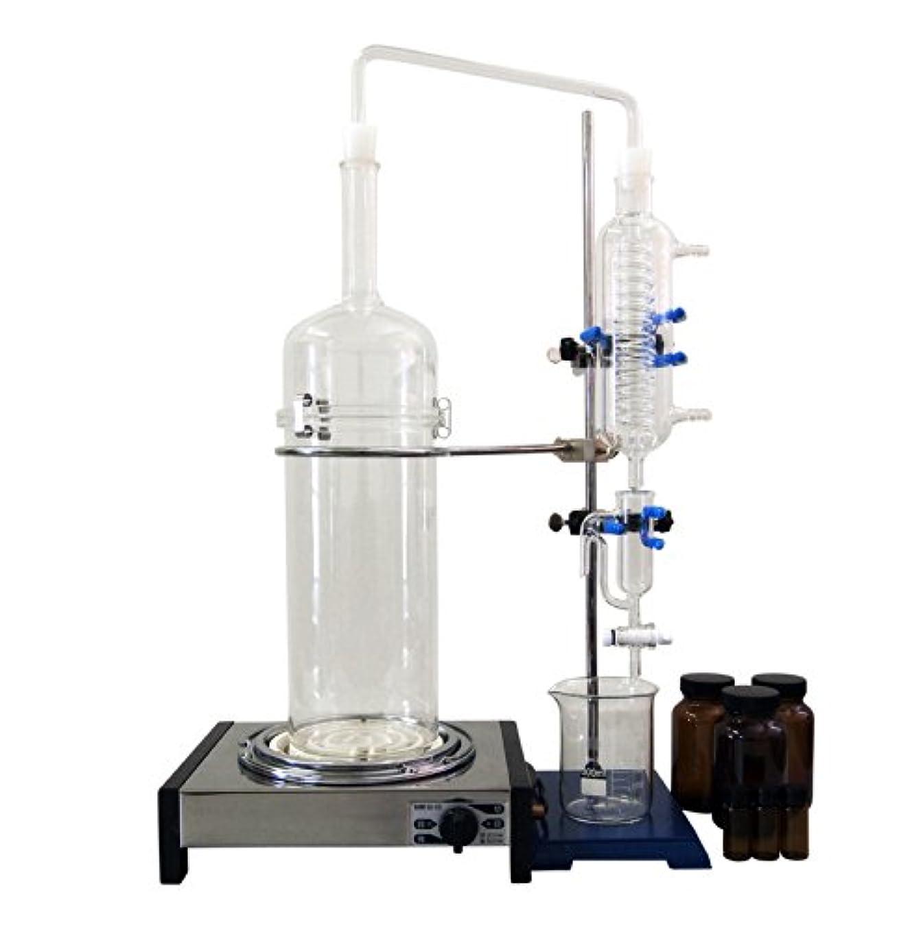 組み合わせキャメル試験ハーブ蒸留器/ピュアスティーラーライト/K-HJ200(OilSP) 簡易水循環装置セット