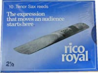 RICO ROYAL TENOR SAXOPHONE REEDS BOX OF 10 - 2.5 Size【並行輸入】