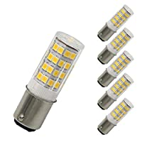 DCバヨネットベースライトbulb-120 volts-dimmable LED電球 – ソフトdaylight-ba15d – 50ワット相当電球 – Re Places t3 / t4ハロゲン電球(5パック) led ba15d