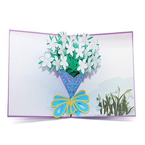 水仙の花束のメッセージカード バースデーカード グリーティングカード 誕生日カード 感謝状 結婚記念日 結婚祝い 封筒付き
