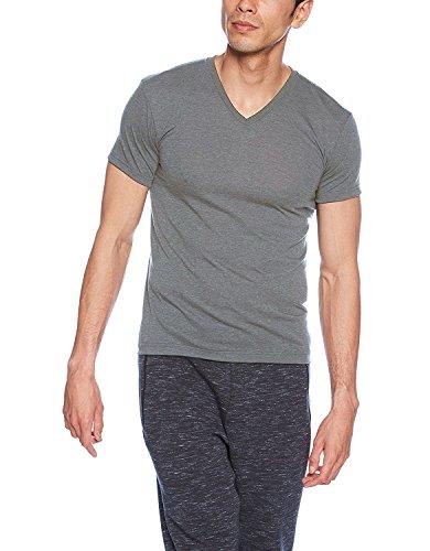 (ビー・ブイ・ディ)B.V.D. ULTRA DRY 吸水速乾 VネックTシャツ(M,L,LL) GR494RS GR グレー L