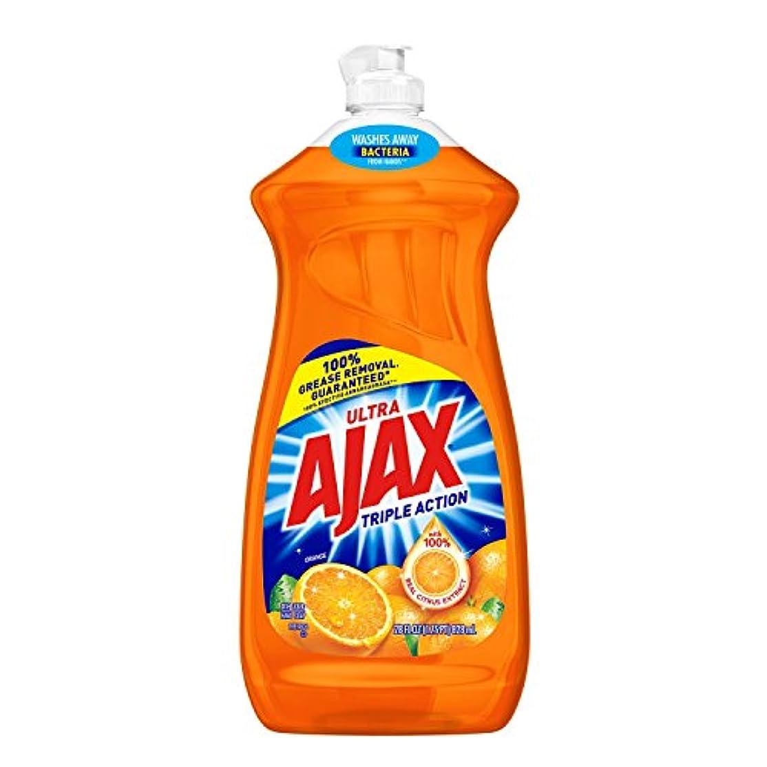 艦隊流す矩形Ajax Triple Action Orange Dish & Hand Soap, 90 Oz, Cuts Grease, Fights Odors, Washes Away Dirt and Bacteria by...