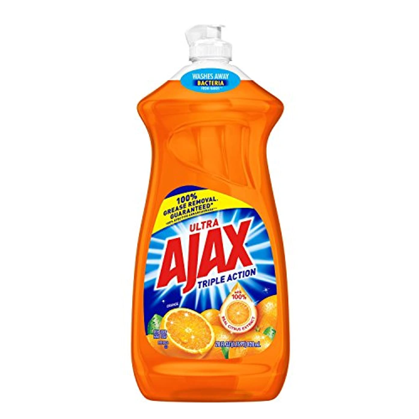 Ajax Triple Action Orange Dish & Hand Soap, 90 Oz, Cuts Grease, Fights Odors, Washes Away Dirt and Bacteria by...