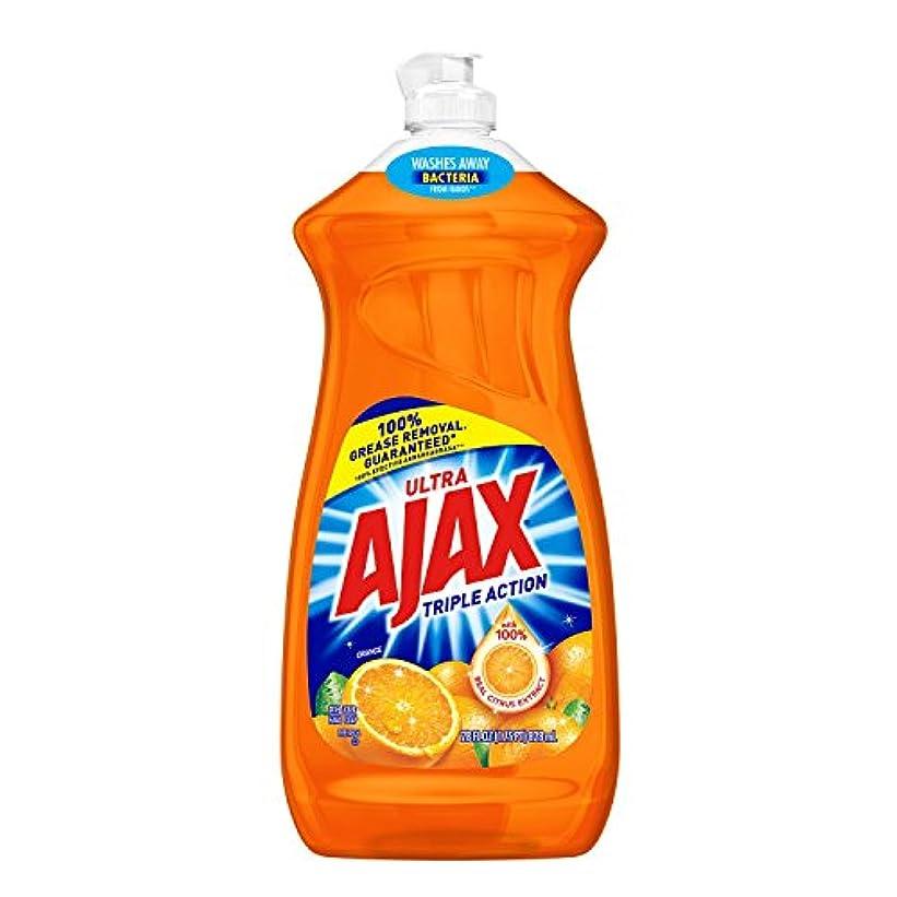 風刺焦がすバンケットAjax Triple Action Orange Dish & Hand Soap, 90 Oz, Cuts Grease, Fights Odors, Washes Away Dirt and Bacteria by...