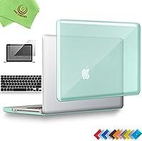ueswill 3in1光沢クリスタルクリアSee Throughハードシェルケースとシリコンキーボードカバーfor MacBook Pro +マイクロファイバークリーニングクロス MacBook Pro 15'' (Non-Retina) グリーン UES04C15P3-07