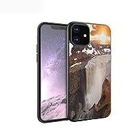 カバーケース iPhone 11 Pro Max 用 TPU ソフトケース 指紋防止 超薄型 超耐磨 軽量ケース 滝 北ホライズンビュー画像の雄大な峡谷を流れる素晴らしい滝 多色 iPhone 11 Pro 2019用 iPhone11用