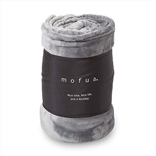 mofua(モフア)毛布 シングル グレー 1年間品質保証 静電気防止加工 ...