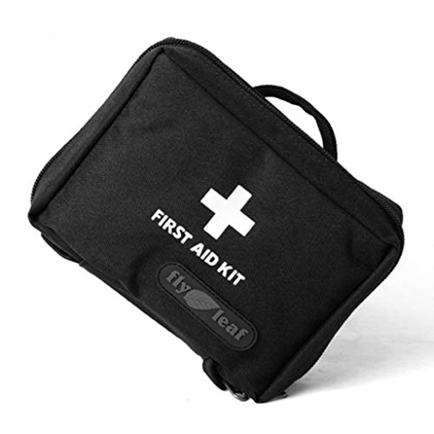 再撮りスタッフ今まで緊急用バッグ 空のバッグ応急処置キット旅行緊急サバイバルポーチ医療収納袋ナイロンサバイバルパッケージ/黒、赤 HMMSP (Color : Black)