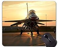 滑り止めマウスパッドマット、F 16 Thunderbirds航空機航空滑り止めラバーベースマウスパッド