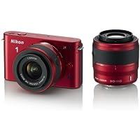 Nikon ミラーレス一眼カメラ Nikon 1 (ニコンワン) J1 (ジェイワン) ダブルズームキット レッド N1 J1WZ RD