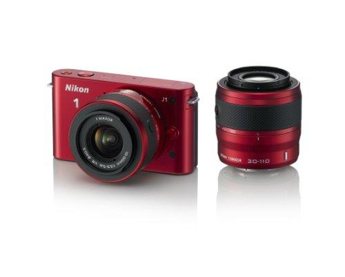 Nikon デジタル一眼カメラ Nikon 1 (ニコンワン) J1 (ジェイワン) ダブルズームキット レッド N1 J1WZ RD
