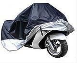 (ディフレコ) Difreco 【 大事 な 愛車 を 雨 埃 ( ほこり ) 日差し ( UVカット ) から 守る 】 サイズ は 5種類 から 選べる M L XL XXL XXXL 収納 袋 付 バイク カバー ( ツートン カラー 黒 ブラック / 銀 シルバー ) (XL)