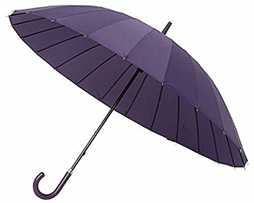 mabu(マブ) おしゃれ 超軽量24本骨 60cm 手開き傘 (グレープ)