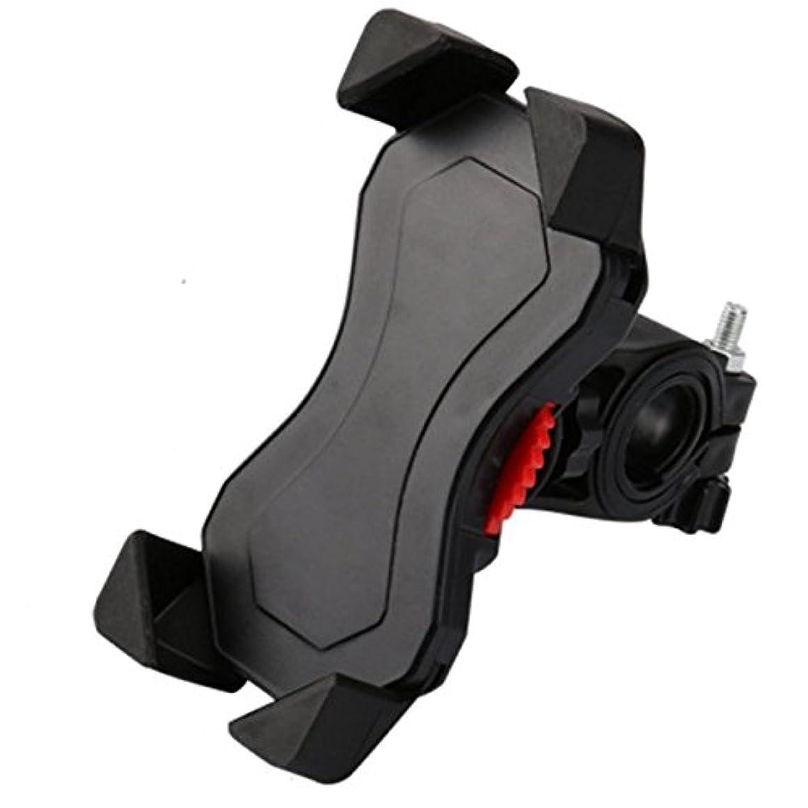 サイレン検証クライストチャーチ自転車ホルダー スマホホルダー 自転車携帯電話ホルダー 鷹爪携帯電話ホルダー 360°回転できる 3.5~6.5インチのiPhone、AndroidスマートフォンやGPS設備に適応する (black)
