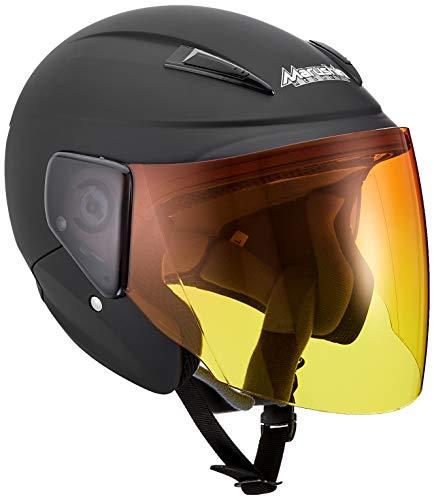 MARUSHIN (マルシン) バイクヘルメット セミジェット M-520XL 【アンバーグラデシールド】 マットブラック XLサイズ(61-62cm未満) M-520XL B0741W1WWQ 1枚目