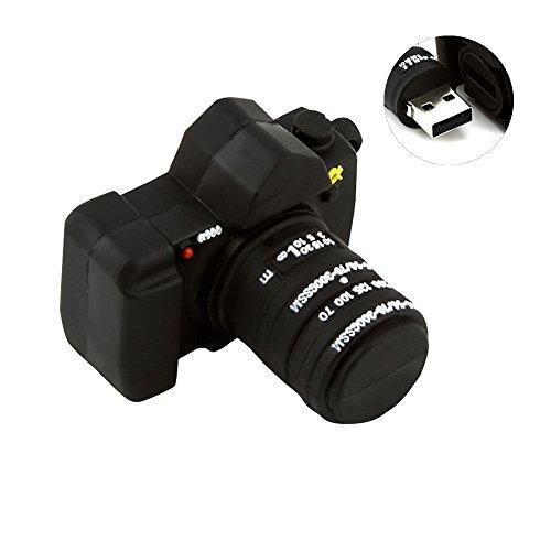 32GB面白いカメラの形状USB 2.0メモリフラッシュドライブ おもしろUSBフラッシュメモリー 小型 かわいいペンドライブ データストレージ メモリースティック(ブラック)
