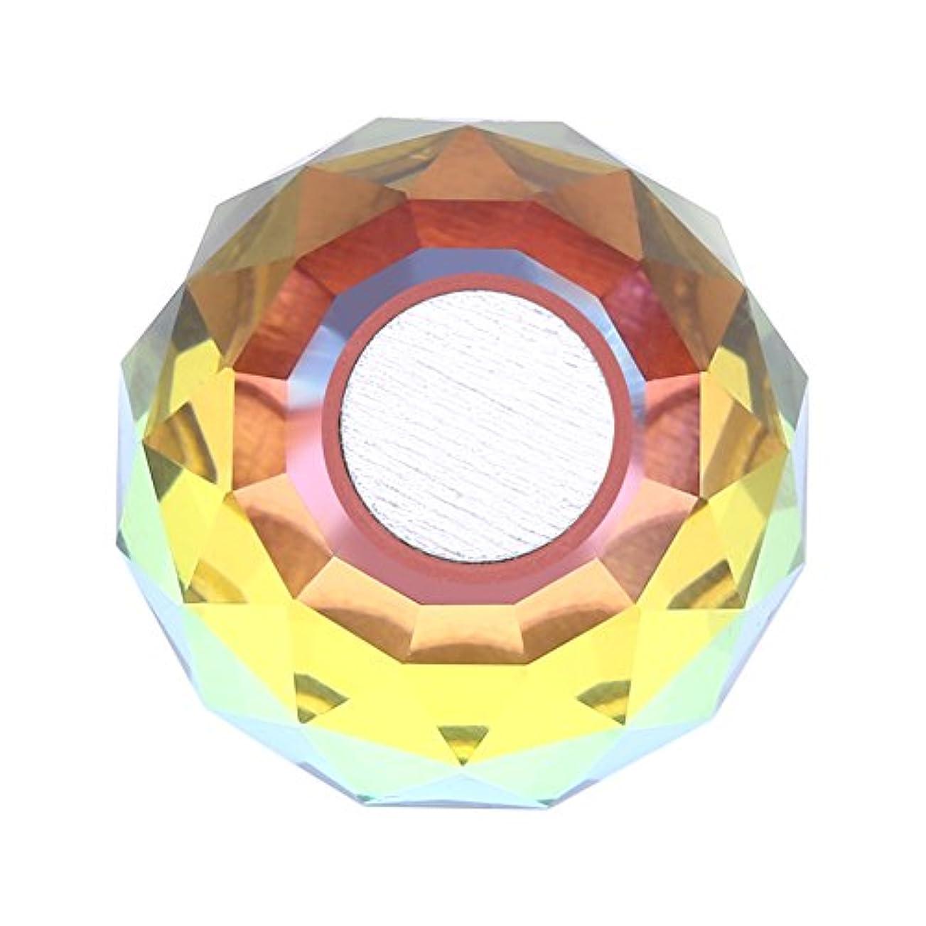取り囲む窓同情磁気ネイルチップスタンドホルダー サロンDIYと実践マニキュアのための合金ネイルアートディスプレイチップホルダー(1)