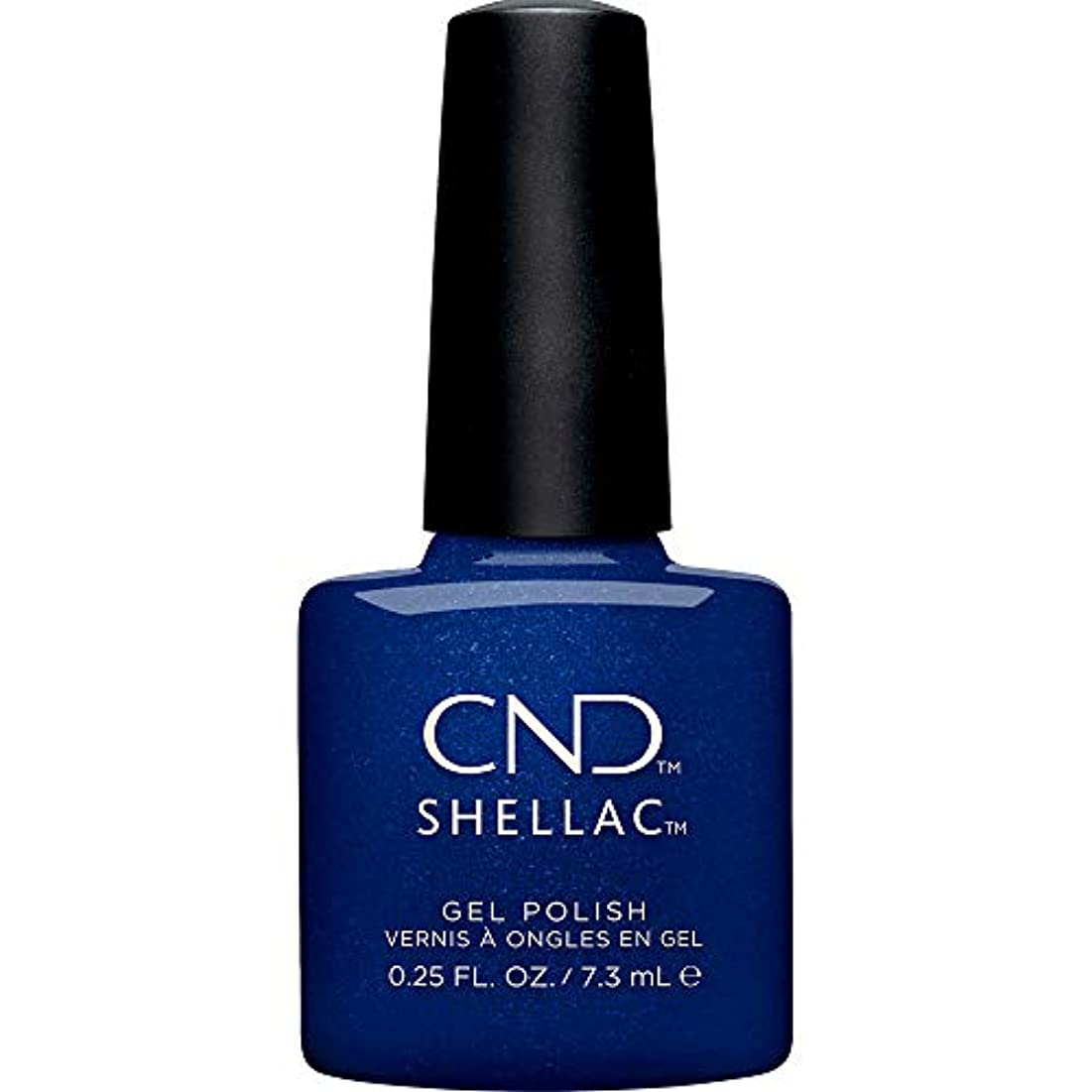 箱弾力性のあるキリストCND Shellac - Crystal Alchemy Winter 2019 Collection - Sassy Sapphire - 0.25oz / 7.3ml