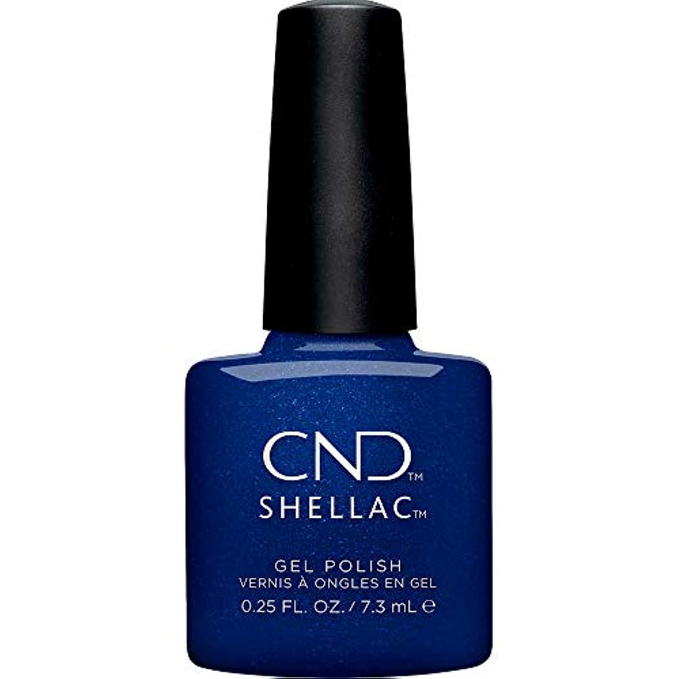 会計船酔い満足させるCND Shellac - Crystal Alchemy Winter 2019 Collection - Sassy Sapphire - 0.25oz / 7.3ml