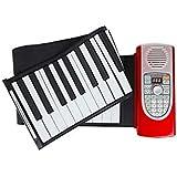 LINGLING-キーボード ハンドロール電子ピアノプロフェッショナル版成人用ポータブルエントリーMIDIキーボード (色 : Red)