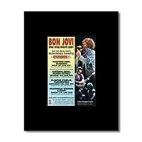 BON JOVI - UK Tour 2001 Mini Poster - 13.5x10cm