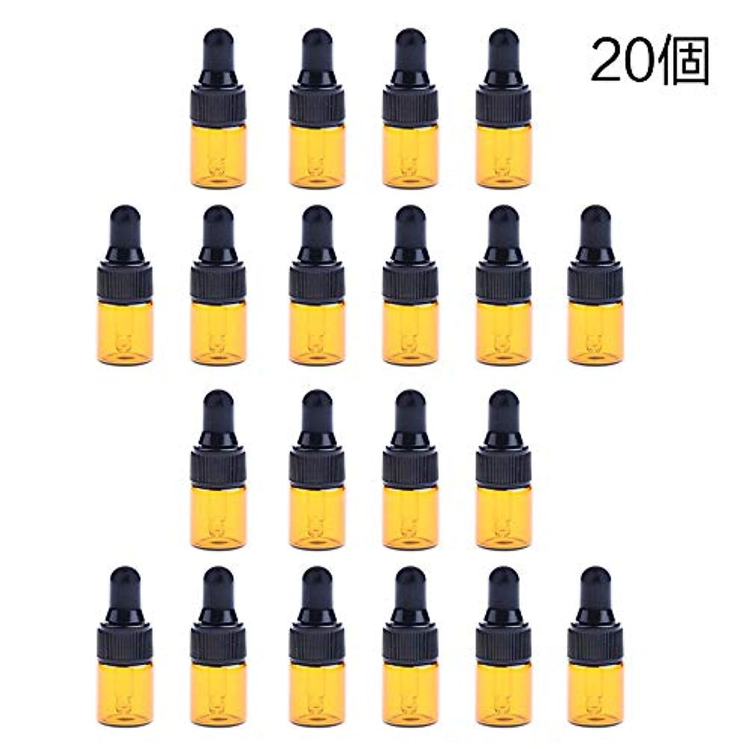 店主日帰り旅行に喜ぶ20個 ドロッパーボトル エッセンシャルオイル ミニサイズ 詰め替え可 ガラス スポイトボトル