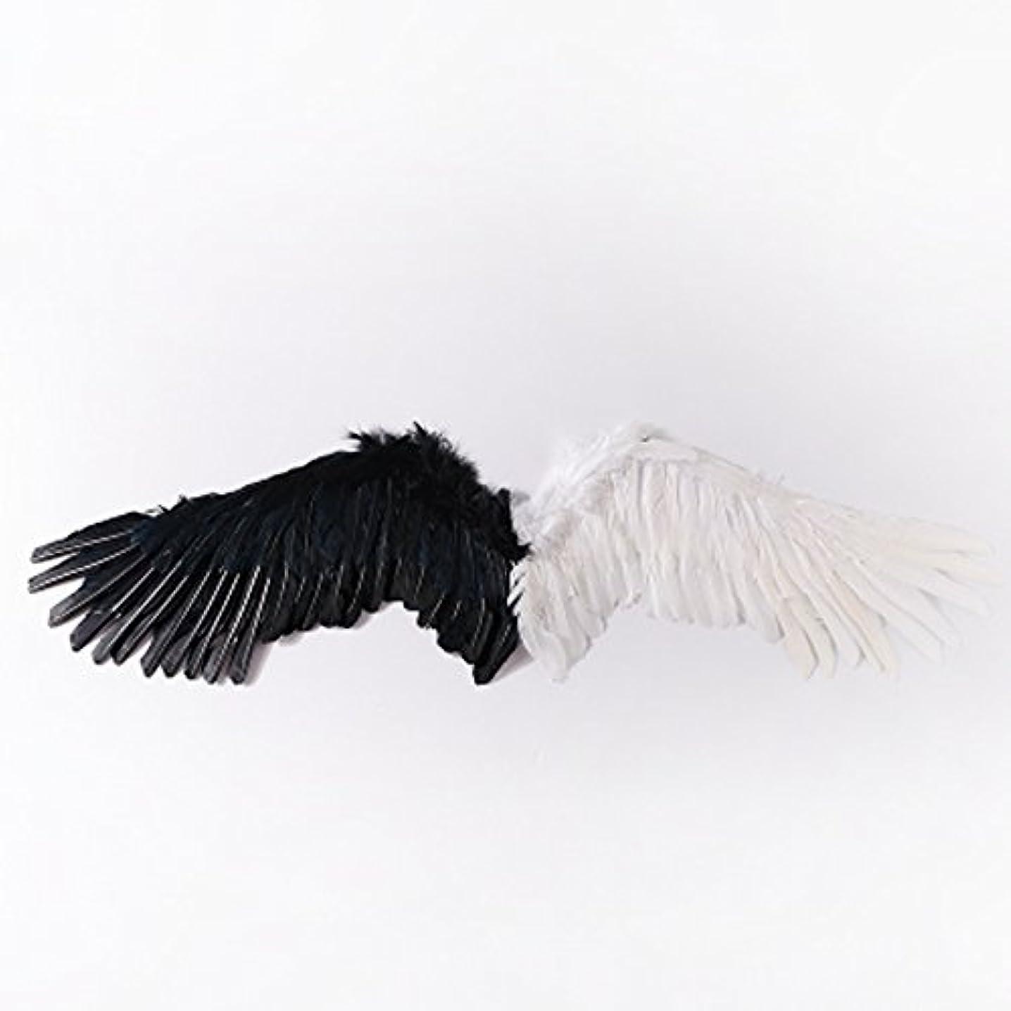 叱る勇者オーストラリアBEYLOR(ベイラー) 天使コスプレ エンジェル 仮装 天使の翼 9色展開 コスチューム用小物 ハロウィン クリスマス 天使 悪魔 羽 パーティー 舞台用 デビル(黒×白)