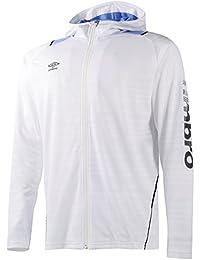 (アンブロ) UMBRO トレーニング ボーダーメッシュフーデッ長袖ドジャケット UCS7602 [メンズ]