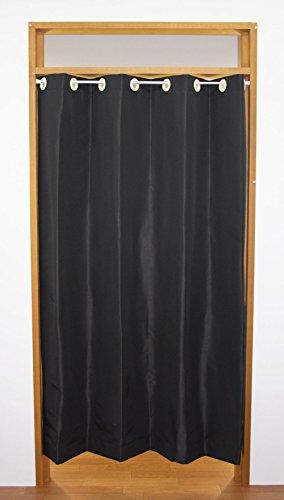 【節電・省エネ】日本縫製 断熱 防音 遮光 シールド仕切りカーテン コンフォール ブラック 幅140cm×丈175cm 1枚入