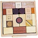 木製ブロック初期教育教育玩具誕生日ギフト ( Color : マルチカラー まるちから゜ )