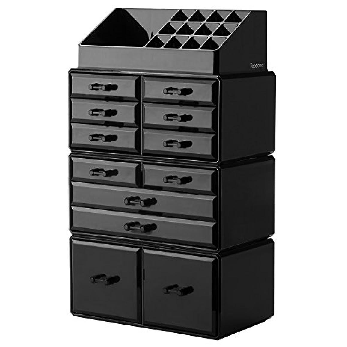 想定するイタリアの把握(Black) - Readaeer Makeup Cosmetic Organiser Storage Drawers Display Boxes Case with 12 Drawers(Black)