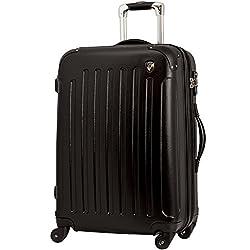 TSAロック搭載 スーツケース キャリーバッグ newFK10371 ブラック MS型(3~5日用) マット加工ファスナー開閉タイプ