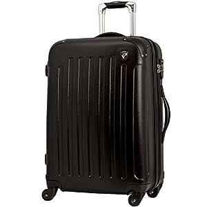 TSAロック搭載 スーツケース キャリーバッグ newFK10371 ブラック S型(2~4日用) マット加工ファスナー開閉タイプ
