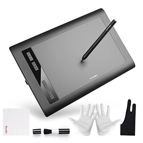 XP-PEN Star03 Pro Graphics Tablet 10x6 Digital Drawing Tablet with 8192 Level Battry-Free Stylus 5080 LPI Resolution for Windows 10 / 8 / 7 & Mac OS Artist Designer Amateur Hobbyist [並行輸入品]