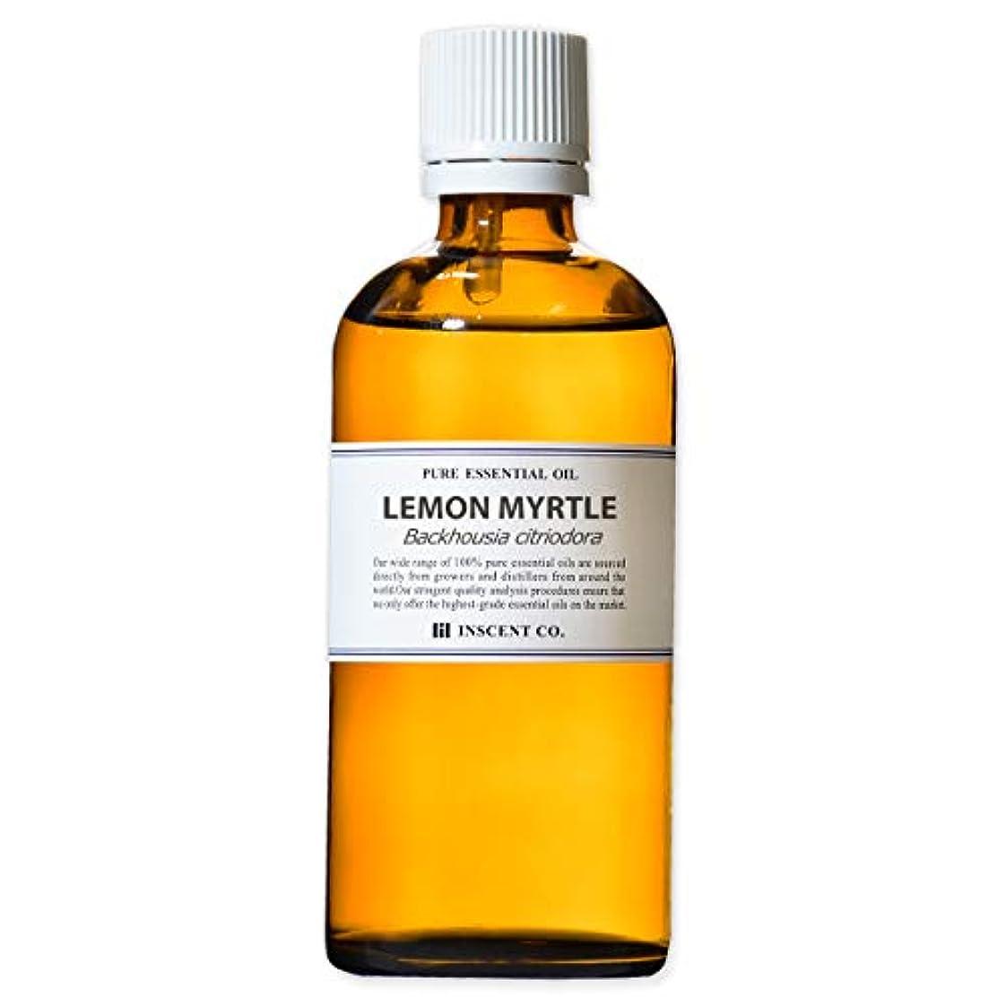 信仰修正数値レモンマートル 100ml インセント アロマオイル AEAJ 表示基準適合認定精油
