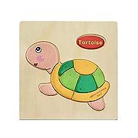 カラフルな木製パズル動物教育発達赤ちゃんキッズトレーニング玩具 - 1#