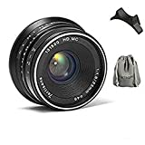 7artisans 交換レンズ25mm/f1.8 M 単焦点canon キヤノン マウントカメラ対応 マニュアルフォーカス レンズポーチバッグ同梱(ブラック)