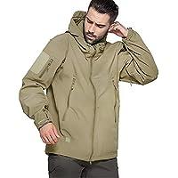 Top Greener Mens Jacket Waterproof Soft Shell Lightweight Windbreaker Casual Work Coat