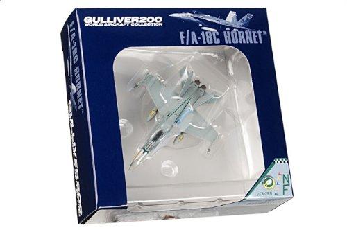 1:200 ガリバーワールド 飛行機 コレクション WA22102 マクドナルド ダグラス F/A-18C Hornet ダイキャスト モデル USN VFA-195 Dambusters NF400