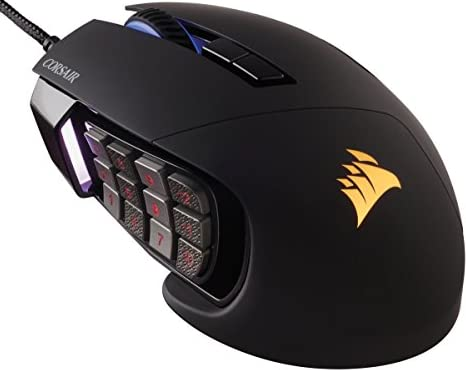 Corsair Corsair Gaming SCIMITAR RGB MOBA/MMO Gaming Mouse -Black-オプティカルゲーミングマウス MS276 CH-9000231-NA