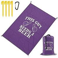 この男はビールが必要 レジャーシート ピクニックマット 防水 145X200cm 折りたたみ式 キャンプマット ブランケット 日よけテント 軽量 簡単収納 持ち運び便利