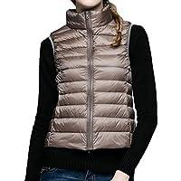 Macondoo Women's Winter Sleeveless Puffer Lightweight Vest Down Jackets