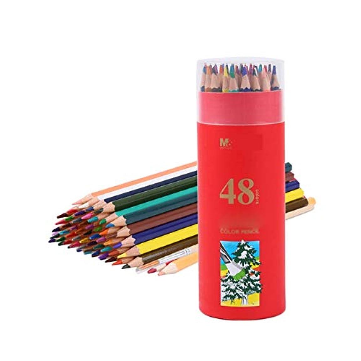 手順急性痛いGaoxingbianlidian001 ペイントブラシ、48色水溶性ペン、快適な練習塗装カラーリードブラシ、柔らかくて明確な手描き木製色鉛筆(48色、19 * 7 cm) 簡単で簡単 (Color : 48 colors, Size : 19*7cm)