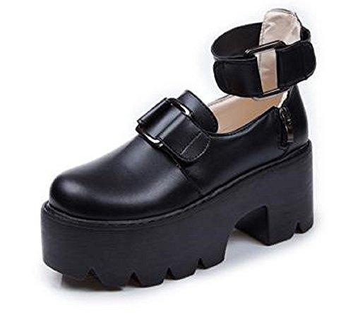 [해외](sleeping sheep) 여성 벨크로 스트랩 통굽 슈즈 링 버클 고스 하라주쿠 계 22.5 23 23.5 24/(sleeping sheep) Ladies velcro strap thick bottom shoe ring buckle gothic lola Harajuku system 22.5 23 23.5 24