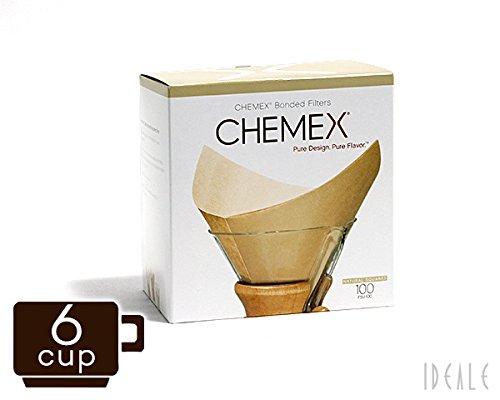 [해외]케멧 쿠스 (CHEMEX) 전용 여과지 FSU-100 6 컵 용 내츄럴 (표백 타입) 100 매들이 병행 수입품/Kemex (CHEMEX) exclusive filter paper FSU - 100 6 cup natural (unbleached type) 100 sheets Parallel import goods