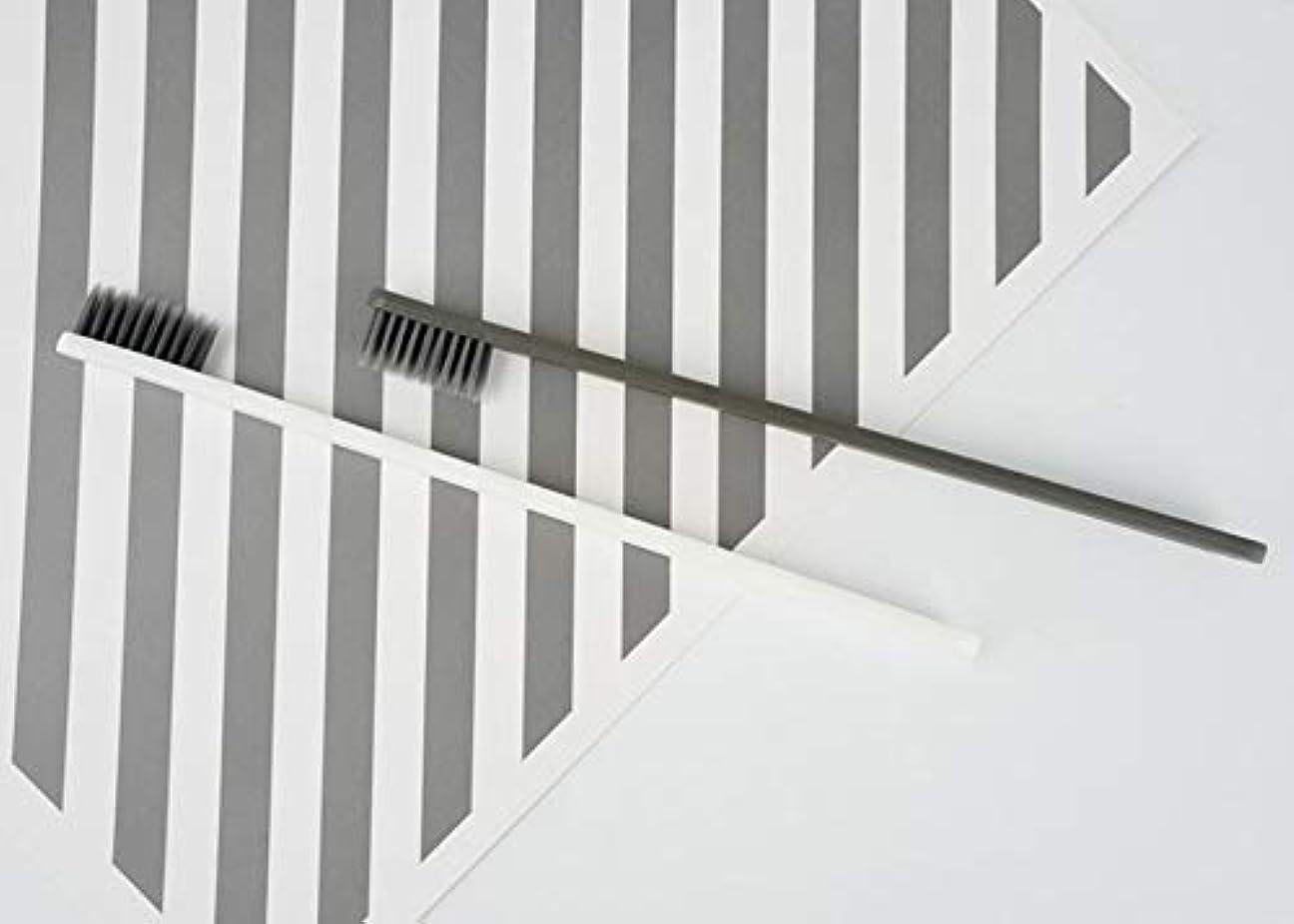 すり減るマラソン略語ホテル歯ブラシ - 5個のファッション 活性炭歯ブラシ 家族のための 口腔洗浄ツール(グレー)