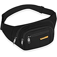 MANXISI Brand Black Fanny Pack for Women and Men Sports Waist Bag