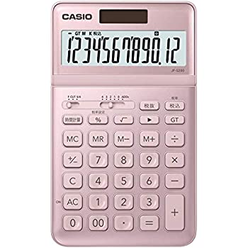 カシオ CASIO 電卓 12桁 ライトピンク ジャストタイプ JF-S200-PK-N