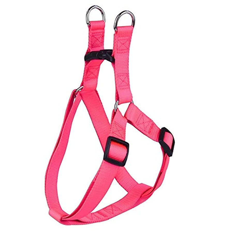 帝国主義ベール発表Nylon Pet Dog Harness No Pull Adjustable Dog Leash Vest Classic Running Leash Strap Belt for Small and Medium Dogs Pink M