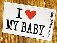 ステッカー アイラブ I LOVE MY BABY 私の赤ちゃん_SC-IL038-GEN
